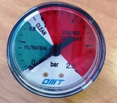 Манометры (индикаторы засоренности) для сливных фильтров