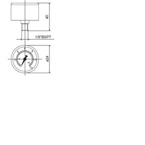 Манометры для сливных фильтров гидростанций