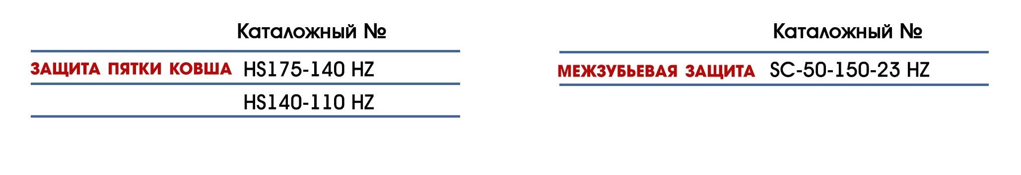 Межзубъевая защита для JCB, Volvo, CAT, Hyundai, Hitachi, Komatsu
