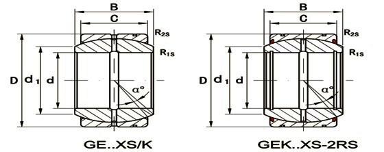 Шарнирные радиальные подшипники из двух частей серий